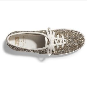 *NWOT* Kate Spade x Keds gold sparkly shoes